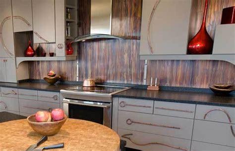 metallic kitchen backsplash 30 insanely beautiful and unique kitchen backsplash ideas