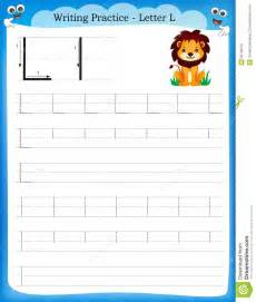 Letter L Writing Practice Worksheet
