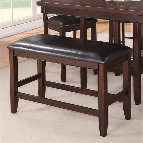 crown mark fulton counter height bench  upholstered