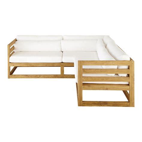 canape d angle 3 place canapé d 39 angle de jardin 3 4 places en teck cyclades