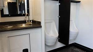 portable restroom trailers 6 station 5 men 1 women With portable bathrooms for rent