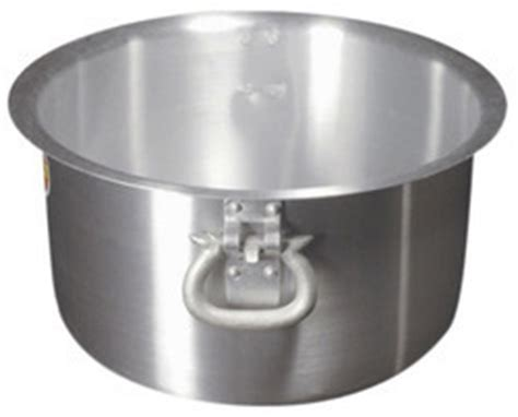 kitchen cookware stainless steel kadai exporter  mumbai