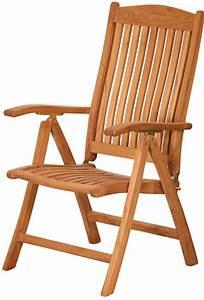Fauteuil Jardin Bois : fauteuil inclinable en teck massif 63 cm ~ Teatrodelosmanantiales.com Idées de Décoration