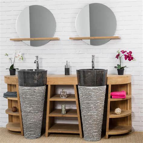mosaique cuisine credence meuble sous vasque vasque en bois teck massif vasques en marbre florence naturel
