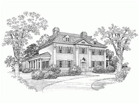 georgian house plan   square feet   bedroomss  dream home source house plan