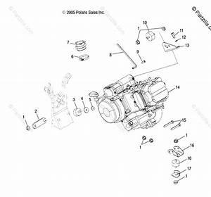 Polaris Atv 2006 Oem Parts Diagram For Engine Mounting