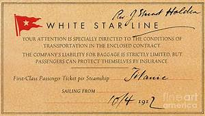 Titanic: First Class Ticket Photograph by Granger