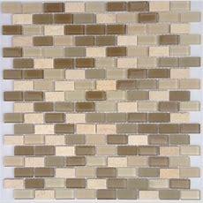 Slate Subway Mosaic Tile Mini Dark  Mineral Tiles