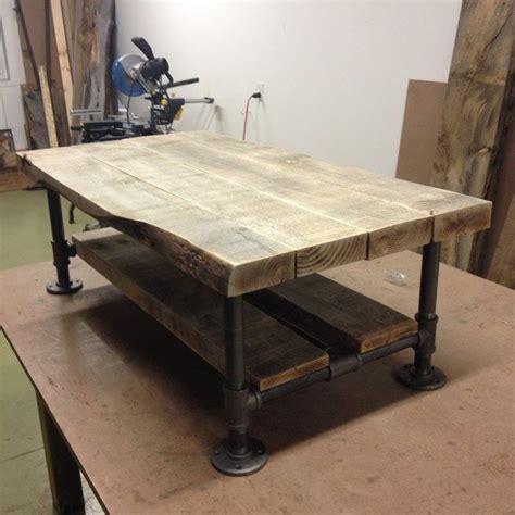 reclaimed burned wood pipe coffee table playa del