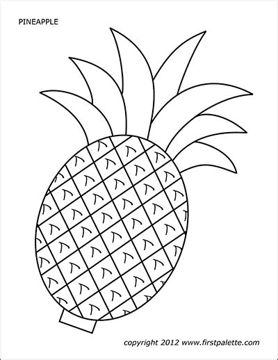 pineapple  printable templates coloring pages firstpalettecom