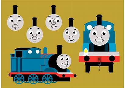 Thomas Train Characters Silhouette Tank Cartoon Vectors