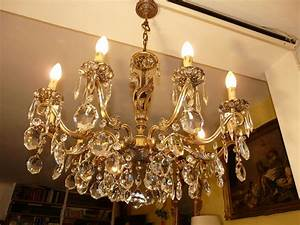 Lustre Pampilles Cristal : lustres ancien lustre cristal ~ Teatrodelosmanantiales.com Idées de Décoration