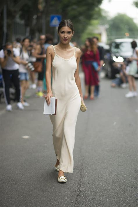 channeled  ease   nightgown  forgoing  braless street style popsugar