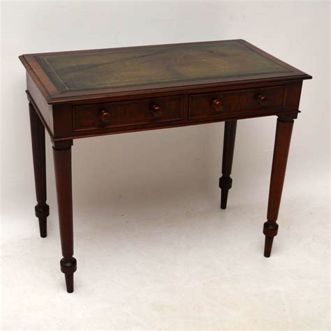 vintage mahogany desk antique mahogany leather top writing table 3242