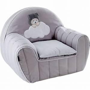 Fauteuil Mousse Fille : fauteuil club d houssable coussin capuchon gris de candide sur allob b ~ Teatrodelosmanantiales.com Idées de Décoration
