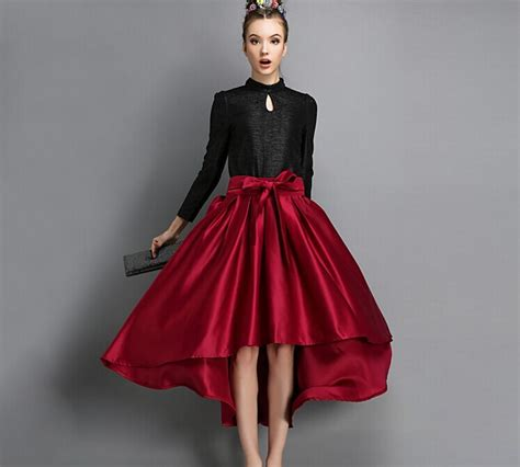 plain a line skirt high waisted a line skirt dress ala