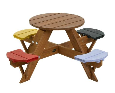 kids outdoor table and chairs garden childrens picnic set wooden table chairs 4