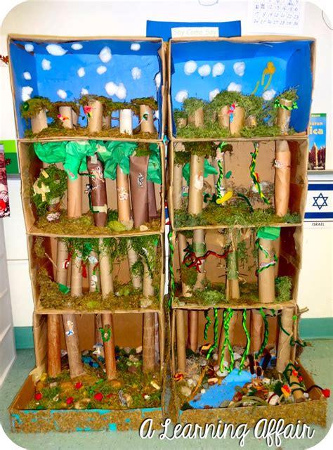 learning affair layers   rainforest   diorama