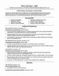Cna Certified Nursing Assistant Resume Sample Foto Bugil Certified Nurse Assistant Resume Student Resume Template Resume Examples No Experience Related To Certified Resume Certifications Sample