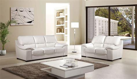 White Sofa Sets by Luxor 2 Italian Top Grain White Leather Sofa Set