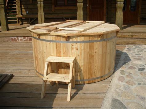 Holz Badetonne Badebottich Garten  Sams Gartenhaus Shop