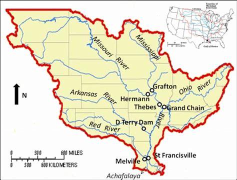 map  usgs sampling sites   mississippi river