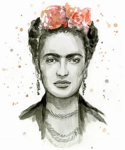 Frida Kahlo Portrait Olga Shvartsur Painting Poster