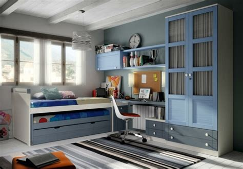 chambre ado bleu gris 60 exemples pour la chambre enfant bois moderne