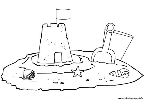 Coloring Sand sand castle adf6 coloring pages printable
