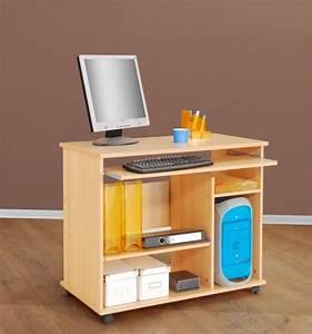 Computertisch Auf Rollen : computertisch schreibtisch pc tisch auf rollen ~ Watch28wear.com Haus und Dekorationen