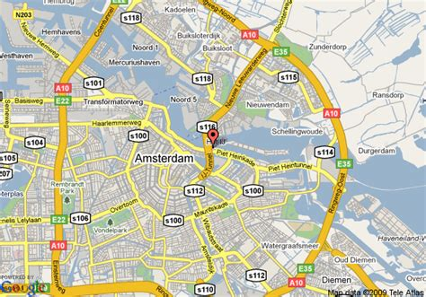 Amsterdam city centre map