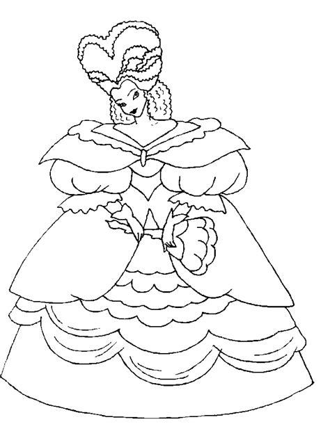 abiti principessa disegni  bambini da colorare