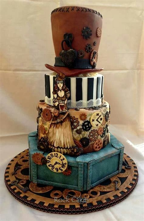 Best Cakes Steampunk Images On Pinterest Steampunk