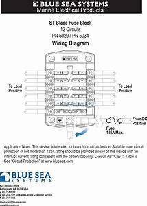 blue sea 5029 fuse block box holder marine boat battery 12 With marine wiring block