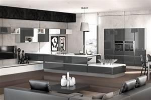 deco salon et cuisine ouverte With deco salon et cuisine ouverte