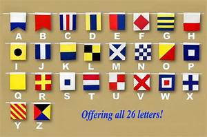 letter b wooden nautical alphabet flag decoration 16 With nautical flag letters