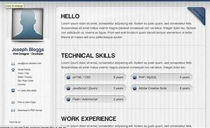 html resume templates css menumaker With html resume template
