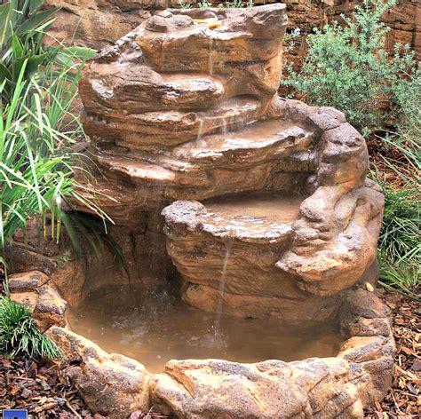 how to make artificial waterfall backyard garden pond waterfall kits fake artificial rocks