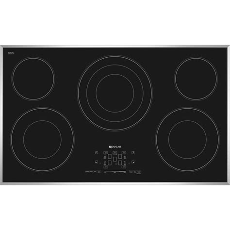 36 inch electric cooktop jec4536bs 36 inch electric radiant cooktop with glass