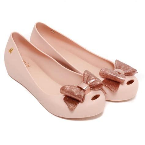 mini melissa ultragirl sweet bow ballet pumps