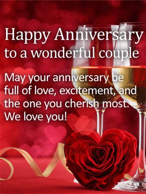 wonderful couple happy anniversary card birthday greeting cards  davia