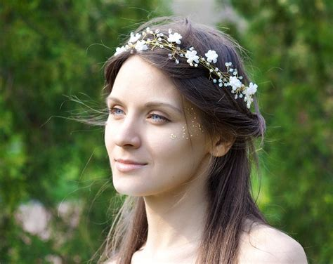 flower wedding headband bridal headband floral headband