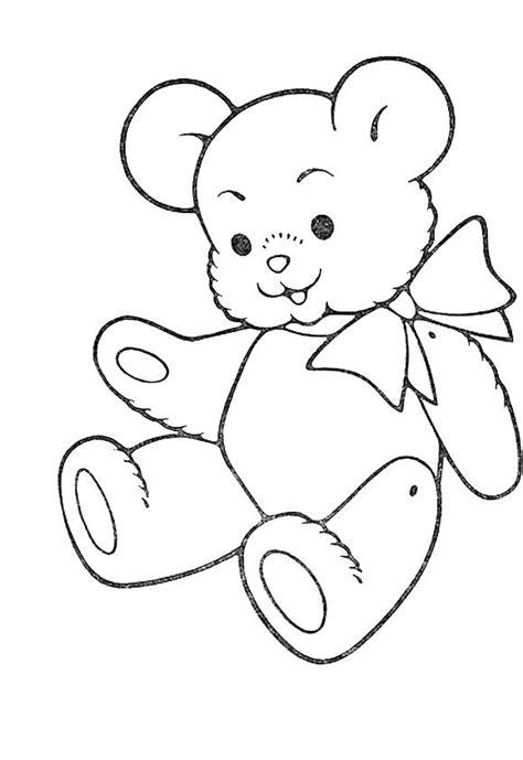 cute teddy bear coloring  kids teddy bear coloring