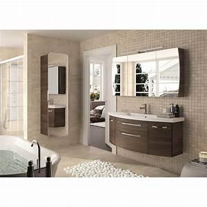 Meuble Salle De Bain Marron : meuble de salle de bains plus de 120 marron image leroy merlin ~ Melissatoandfro.com Idées de Décoration