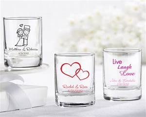 Presenting your guests with personalized shot glasses for for Personalized shot glasses wedding favors