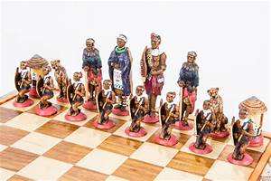 Themed Large African Tribal Chess Set » Kumbula Shop