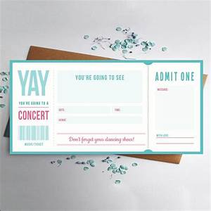 best 25 concert ticket gift ideas on pinterest tickets With flight ticket template gift