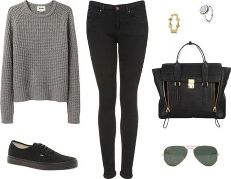 Outfits With Vans   Eleanor inspired river cruise outfit with mono black Vans. Requested ...