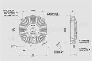 30100342a Spal 7 5 U0026quot   190mm  Cooling Fan Va14 C