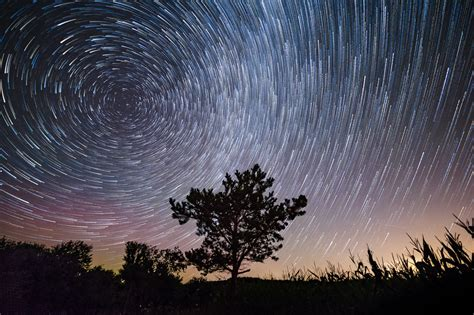The Earth Motion Time Lapse Night Sky Space